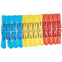 Pratap Plastic Clothes Pins 2 In 1 Shrink, MultiColour, 24 Pieces