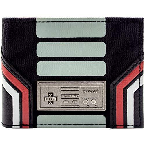 Nintedo NES Original Controller Abzeichen Schwarz Portemonnaie Geldbörse