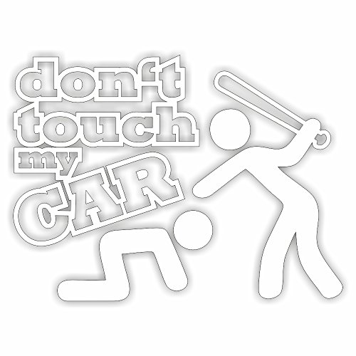 Dont touch my car Shocker Hand Auto Aufkleber JDM Tuning OEM DUB Decal Stickerbomb Bombing fun w (Weiß) (Weiß)