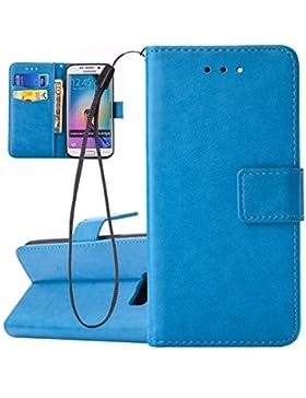 Hülle für Samsung Galaxy S6 Edge, Tasche für Samsung Galaxy S6 Edge, Case Cover für Samsung Galaxy S6 Edge, ISAKEN...