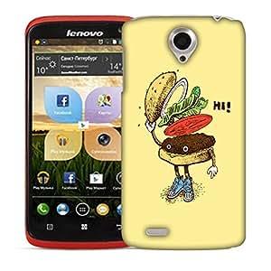 Snoogg Hi Sandwich Designer Protective Back Case Cover For LENOVO S820