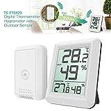NAttnJf Igrometro Digitale LCD Senza Fili del termometro del Monitor all'aperto dell'interno con Il sensore