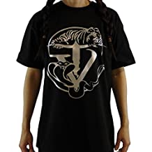 Tyger Vinum, black Women's T-Shirt, gold logo