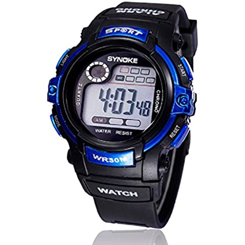 Ularma Moda Chico multifuncion Digital LED Alarma de reloj de pulsera de cuarzo Fecha Sports impermeable