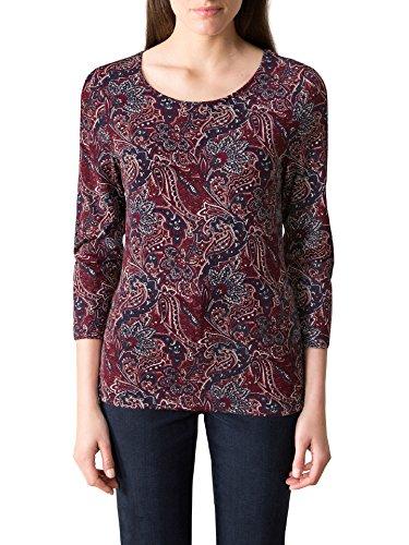Walbusch Damen Paisley-Shirt Gemustert Bordeaux 48/50 -