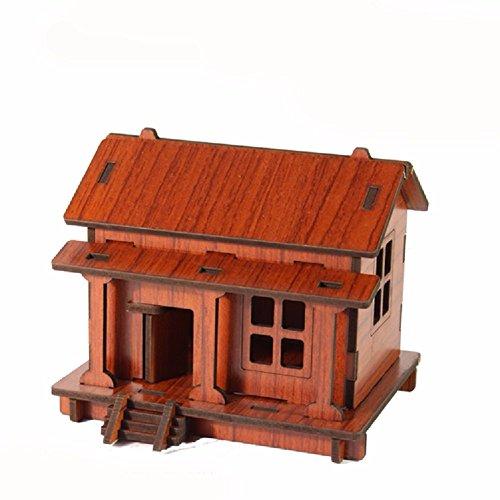 ZPSPZ Home Dekoration Wohnzimmer Amerikanische Chinesische Arbeiter DIY Inneneinrichtungsgegenstände Modell Haus Dekoration Wohnzimmer Dekor 11 * 8 * Freund,Mahagoni