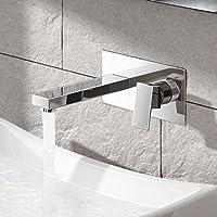 IBathUK finitura cromata/bagno Moderno rubinetto miscelatore a muro per lavandino TB3206
