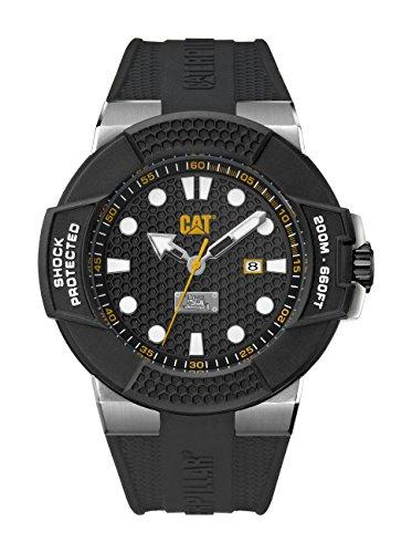CAT WATCHES Herren Datum klassisch Quarz Uhr mit Silikon Armband SF.141.21.111 (Männer Cat Watch)