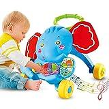 cuckoo-X Baby Walker Trolley Spielzeug Baby Learning Walker Spielzeug Multifunktions Puzzle Design in niedlichem Elefant Spielzeug mit Musik und Sound Funktion für Jungen und irls