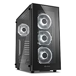 Sharkoon TG5 Glass ATX MIDI Tower Case - White