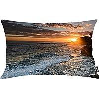 i FaMuRay Sunset Sun Hiding Behind The Rocky Ocean Shore