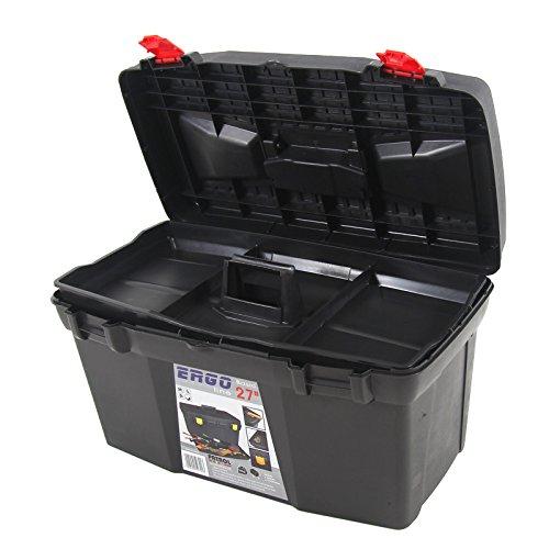 Kunststoff Werkzeugkoffer ERGO Basic 27″, 60x34cm Kasten Werzeugkiste Sortimentskasten Werkzeugkasten Anglerkoffer - 7