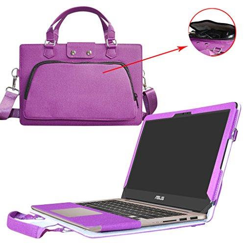 Asus UX310UA UX310UQ Hülle,2 in 1 Spezielles Design eine PU Leder Schutzhülle + portable Laptoptasche für 13.3' Asus Zenbook UX310UA UX310UQ Series Notebook,Violett