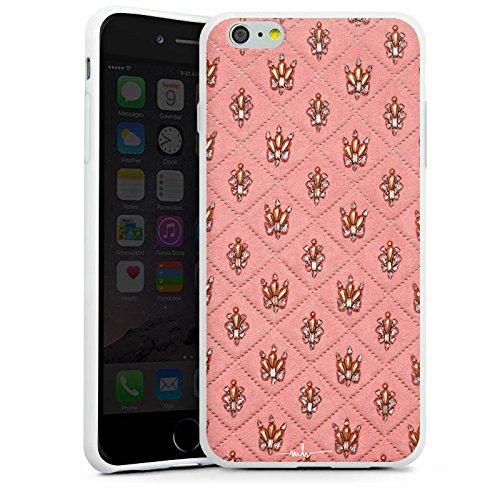 Apple iPhone X Silikon Hülle Case Schutzhülle Design Fashion Kronen Silikon Case weiß