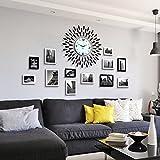 Unbekannt Bilderrahmen Fotorahmen Kollage Groß Foto-Wand-hölzernes Foto-Wand-europäisches Wohnzimmer-Restaurant-Foto-Rahmen-Wand Einfache Kreative Kreative Foto-Rahmen-Wand Stummschalten der Uhr