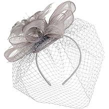 Tocado Sinamay con Velo by McBURN sombrero de ocasión especialtocado sombrero de ocasión especial