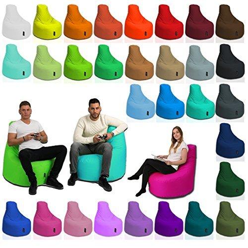 BuBiBag Gamer Kissen Lounge Sitzsack Sessel original Sitzkissen In & Outdoor geeignet fertig befüllt in 31 Farben (gelb) - 7