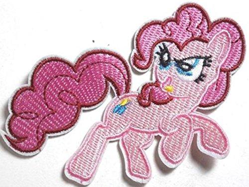 Pie bestickt oder Aufnäher Aufbügler Bügelbild 9cm (Pinky Pony)