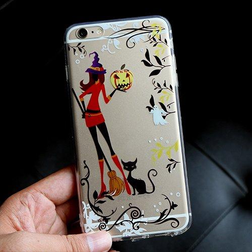 iPhone 6S Hülle, TrendyBox Weiche TPU Ränder mit hartem PC Rückdeckel Schutzhülle Hülle für iPhone 6 6S (Astronaut) Fröhliches Halloween