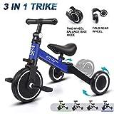 KORIMEFA 3 en 1 Vélo Draisienne Tricycle Évolutif pour Enfants 1-2,5 Ans Premier...
