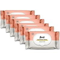 Marchio Amazon - find. Salviette detergenti infuse con olio di Argan (Adatte per pelli secche)- 6x25 (150 salviette)
