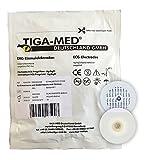 EKG Elektroden mit Nassgel / Liquidgel 48 mm 120 Stück Einmalelektroden Einmal- Klebe- Elektroden Typ: Tiga-Med Profi Qualität!