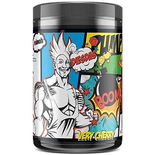 #sinob DIESDAS Pump Booster - Viel Arginin und Citrullin. Ohne Koffein. Muskelpump im Bodybuilding und Kraftsport. 1 x 506g (Very Cherry) - Regelmäßig Kraft-formel