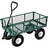 Carrito Carretilla para jardín con laterales abbattibili carga max 300kg