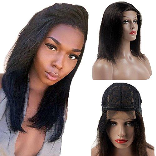 Malaysisches Virgin Hair Lace wigs-orange Star 8A Remy glattes Haar Raw unverarbeitetem Echthaar 4x 4Lace Front Perücke 150% Dichte Bob Perücke für Frauen (Malaysischen Lace Front Perücken)