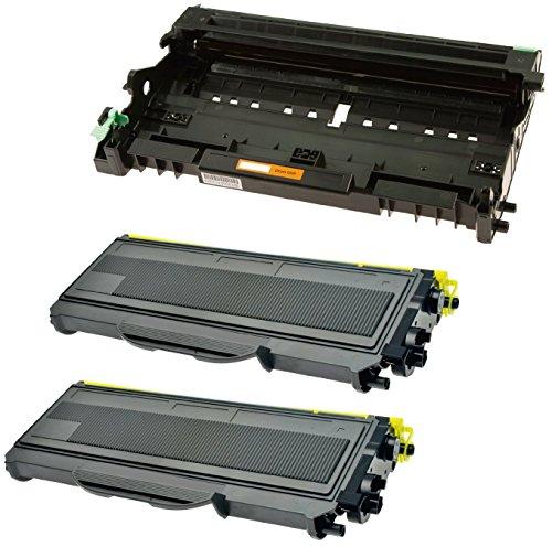 Compatibile DR2100 Tamburo & 2x TN2120 Toner per Brother DCP-7030 DCP-7040 DCP-7045N HL-2140 HL-2150 HL-2150N HL-2170 HL-2170W MFC-7320 MFC-7340 MFC-7345DN MFC-7440N MFC-7840W - Nero, Alta Resa