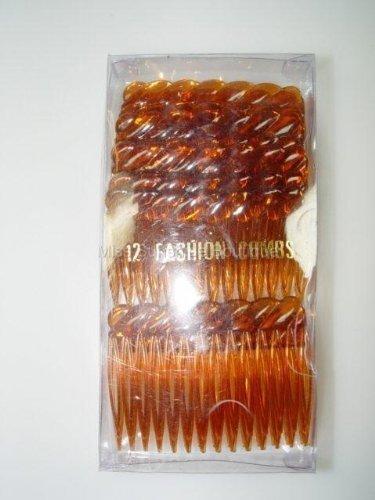 12x 7cm TORT Hair Combs