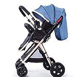 LQRYJDZ Poussette for bébé, Paysage Haut, Panier de Rangement Extra-Large, Portable...