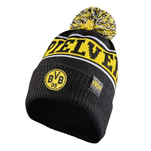 Borussia Dortmund Ballspielverein Bommelmütze Mütze (one Size, schwarz/gelb)