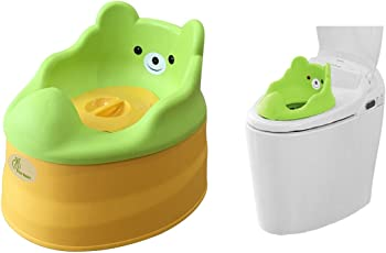R For Rabbit Tiny Tots Adaptable Potty Training Seat (Green AndYellow)