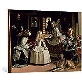 """Cuadro en lienzo: Diego Rodriguez de Silva y Velasquez """"Detail of Las Meninas, detail of the lower half depicting the family of Philip IV (1605-65) of Spain, 1656"""" - Impresión artística de alta calidad, lienzo en bastidor, 100x70 cm"""