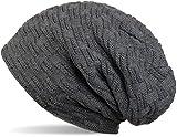 THENICE Bonnet Hiver Chapeau tricoté Homme Beanie Hats, Gris, Taille Unique