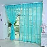 Moginp Vorhang,1 Stück Vorhänge Reine Farbe Curtains Tulle Tür Fenster Drape Panel Sheer Gardinen Home (H)