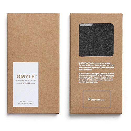 GMYLE echtes leder ultradünnes Premium Cover Case für iPhone 6 / 6s - in um Ihr iPhone optimal zu schützen - Schutzhülle mit hochwertiger Lederoptik - Rote Black