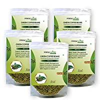 Purely Nature Green Coffee Beans Unroasted Arabica Pack of 5 (1000Gm)