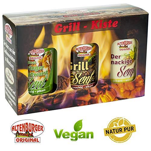 Senf Geschenkset - Grill Kiste (Set mit 3 Artikeln) Senf