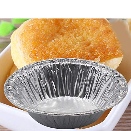 Cupcake Formen, CHshe Metallfolie Cupcake Wrapper 250 Stück 7 X1.4 X4 Cm Aluminiumfolie Muffin Einmal Backförmchen Backform Kuchen Dekorativ