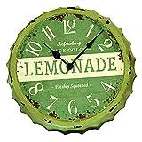 Wanduhr Kronkorken - ''Grün''   Vintage   Nostalgie   Große Wanduhr Vintage   Design   Uhren   für Wohnzimmer   Dekoration   Schmücken   Küchenuhr   Preis am Stiel®