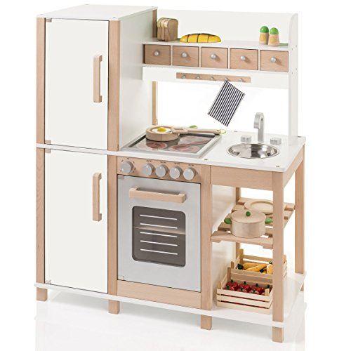 Preisvergleich Produktbild SUN Kinderküche Natur-Weiss aus Holz