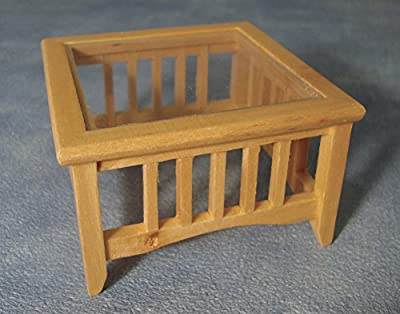 Dolls House Miniature 1:12th Scale Glass Top Coffee Table produced by Streets Ahead - quick delivery from UK.