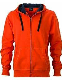 James & Nicholson Herren Sweatshirt Sweatjacke Men's Hooded Jacket
