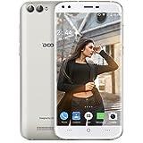DOOGEE X30 3G Smartphone Débloqué(4 Caméras 5MP+8MP - 2Go RAM 16 Go ROM - MT6580 Quad Core 1.3GHz - 3360mAh Batterie - Dual SIM - OTA Gestes Intelligents Gesture)- Or