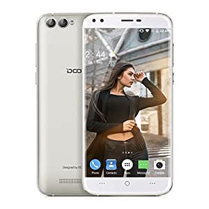 "DOOGEE X30 Smartphone 3G Android 7.0 (MT6580 Quad Core 1.3GHz, 5.5"" IPS HD 2.5D Glass Schermo, 2GB RAM 16GB ROM, 8MP+8MP+5MP+5MP Quad-Camera, Dual SIM, 3360mAh Batteria, GPS, WIFI, OTA, Gesti intelligenti, Bluetooth, Sblocco Gesto) Oro"