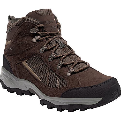 Regatta Mens Clydebank Waterproof Breathable Mesh Walking Boots Chestnut/Gold