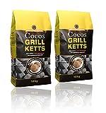 Holzkohlewerk Lüneburg Cocos Grillketts Premium Grillbriketts aus Kokos-Kohle - 20kg - Extra Lange Brenndauer - Ideal für Dutch Oven & Smoker Vergleich