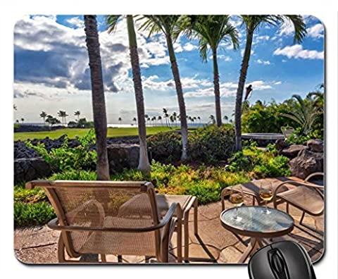Golf Course overlooking Beach and Ocean Maui Hawaii Mouse Pad,